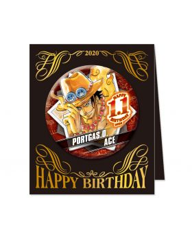 One Piece Jump Shop Ace 2020 Birthday Can Badge