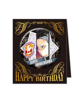 Kimetsu No Yaiba Jump Shop Shinazugawa Genya 2019 Birthday Can Badge