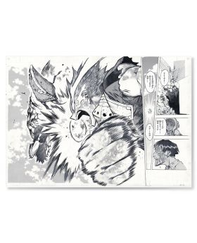 Boku No Hero Academia Jump Shop Manga Page Prints Deku vs. Overhaul