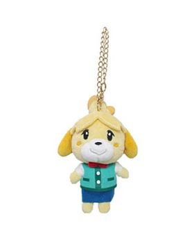 Animal Crossing Sanei Small Plush Keychain Isabelle