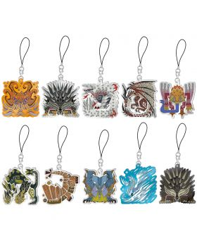 Monster Hunter World Iceborne Capcom Monster Icon Stained Glass Type Mascot Collection Keychain Vol. 4