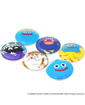 Dragon Quest Square Enix Smile Slime Glass Magnet Gyugyutto Monster Ver. SET