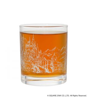 Bravely Default II Square Enix Rocks Cup Glass Halcyonia