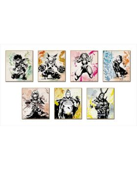 Boku No Hero Academia Mini Illustration Board Ink Painting SET