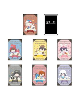 Bungou Stray Dogs x Sanrio Characters Goods Square Can Badge BLIND PACKS