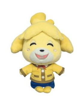Animal Crossing Sanei Small Plush Isabelle Winter Outfit