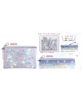 Jinbei-san San-X Starry Sky Penguin Goods Clear Pouch Set