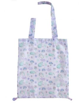 Jinbei-san San-X Starry Sky Penguin Goods 2 Way Eco Tote Bag