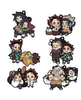 Kimetsu No Yaiba Megahouse Mega Buddy Series! Rubber Straps Vol. 3 SET