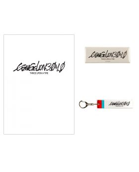 Evangelion Store Official Movie 3.0+1.0 Clear File Can Badge Acrylic Keychain Set