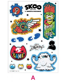 SK8 The Infinity x Sweets Paradise Collaboration Goods Sticker Sheet A