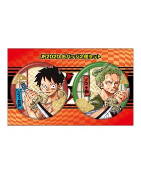 One Piece Jump Festa 2020 Exclusive Luffy and Zoro Can Badge Set