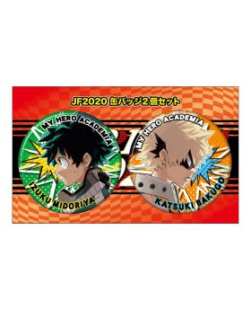 Boku No Hero Academia Jump Festa 2020 Exclusive Deku and Bakugou Can Badge Set