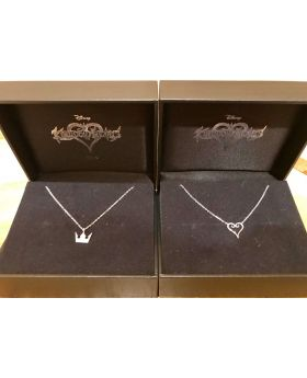 Kingdom Hearts Tokyo D23 Exclusive Goods Silver Crown and Heart Necklace