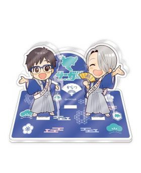 Yuri On Ice Saga On Ice Sanseido Collaboration Goods Karatsu Acrylic Stand