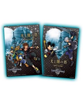 Kingdom Hearts Tokyo Skytree Tower of Radiance and Shadow Goods Sora & Riku Postcard Set