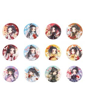 Mo Dao Zu Shi Aimon Exclusive Official Goods Can Badges Plum Blossom Version