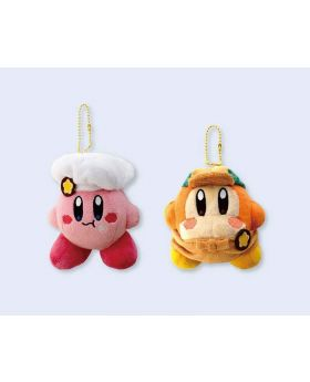 Kirby Cafe New Goods Kirby and Waddle Dee Plush Keychain