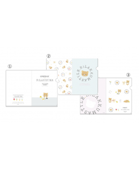 Rilakkuma Cafe Goods Clear File