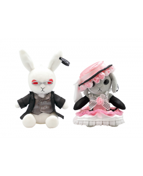 Kuroshitsuji Black Label Square Enix Bitter Rabbit Mini Plush Sebastian & Ciel Pair Ver.
