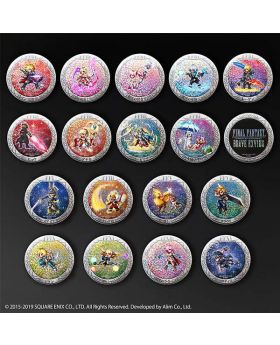 Final Fantasy Brave Exvius Square Enix Cafe Goods Can Badges Vol. 1 BLIND PACKS
