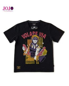 JoJo's Bizarre Adventure Golden Wind Glamb T-Shirt Narancia Ghirga Black