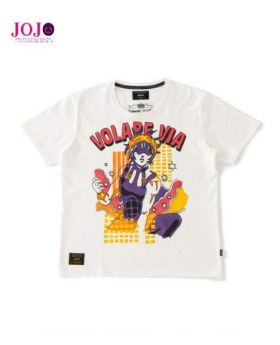 JoJo's Bizarre Adventure Golden Wind Glamb T-Shirt Narancia Ghirga White
