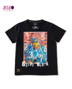 JoJo's Bizarre Adventure Golden Wind Glamb T-Shirt Guido Mista Black
