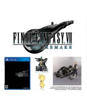 Final Fantasy VII Remake PS4 Game 7-11 Japan Exclusive PLAY ARTS Cloud Strife Set