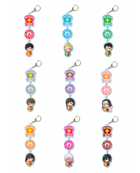 Fire Force GyuGyutto Triple Acrylic Keychains