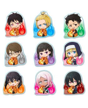 Fire Force GyuGyutto Acrylic Can Badges