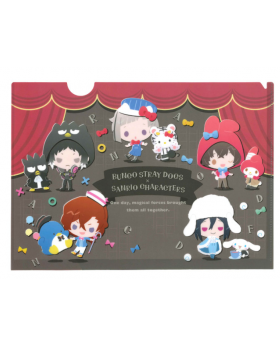 Bungou Stray Dogs x Sanrio Characters Collaboration Goods Clear File Chibi Version
