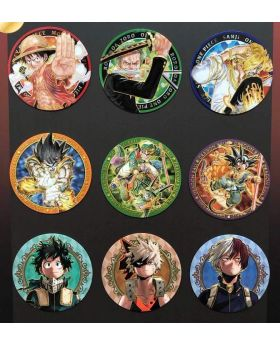 Jump Shop Gold Engraved Magnets ONE PIECE, Dragon Ball, and Boku No Hero Academia