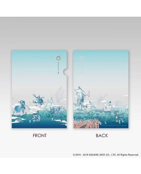 Final Fantasy XIV Online Square Enix Cafe Goods Clear File Light Blue Version