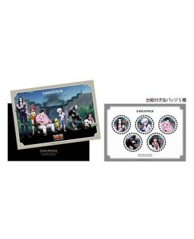 Hunter x Hunter Animate Cafe Zoldyck Family Edition Goods Portrait Can Badge Set