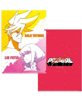 PROMARE XFlag Store Exclusive Goods Galo and Lio Clear File Sketch Art