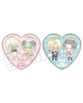 Sarazanmai x Animate Sanrio Collaboration Goods Heart Can Badge Reo and Mabu Set
