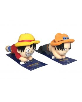 One Piece Universal Studios Japan 2019 Cool Japan Luffy and Ace Plush Badge