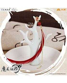Mo Dao Zu Shi Aimon Exclusive Official Goods Wei Wuxian Earrings Red Feather