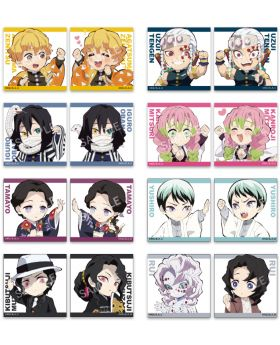 Kimetsu No Yaiba Ufotable SD Chibi Square Can Badge Set Vol. 2