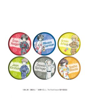 Attack on Titan Shingeki no Kyojin GraffArt Yukata Can Badge Vol. 1 SET