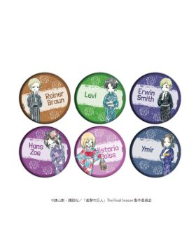 Attack on Titan Shingeki no Kyojin GraffArt Yukata Can Badge Vol. 2 SET