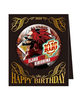 Boku No Hero Academia Jump Shop 2020 Birthday Can Badge Kirishima Eijirou