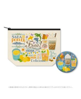 Free! Road to the World KyoAni Shop Limited Edition Pouch and Mirror Set Cafe Version