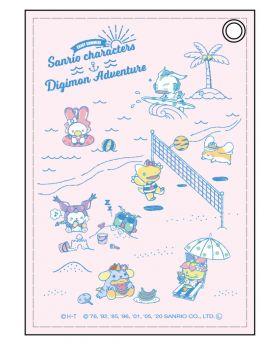 Digimon Adventure x Sanrio Characters ENJOY SUMMER! Goods Synthetic Leather Pass Case