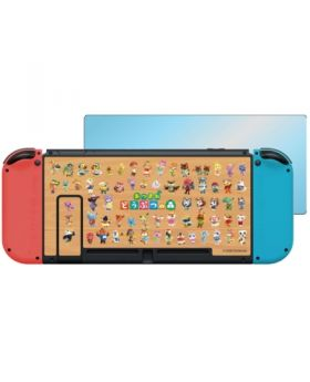 Animal Crossing New Horizons Nintendo Switch Protect Plate and Sticker Sheet All Characters