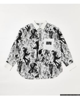 Gibiate x R4G Collaboration All Stars Pattern Shirt