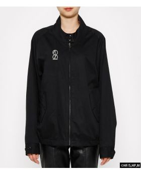 Haikyuu!! x R4G Collaboration Reversible Harrington Jacket Black
