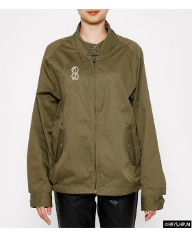 Haikyuu!! x R4G Collaboration Reversible Harrington Jacket Military Green