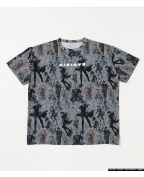 Gibiate x R4G Collaboration All Stars Pattern T-Shirt